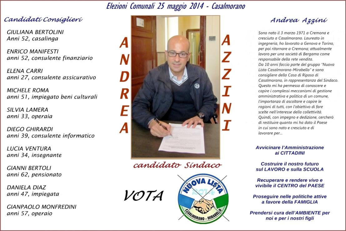 Casalmorano candidato sindaco